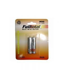 Blister de 2 pilas AAA Full Total 800 Mah