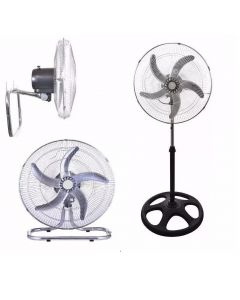 Ventilador 3 En 1 Metalico 18' Winco Pie Pared Piso